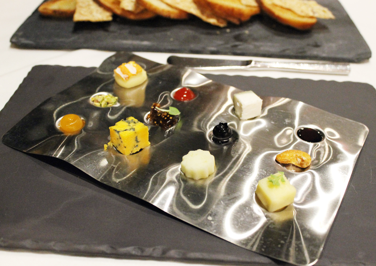 A fanciful cheese course.