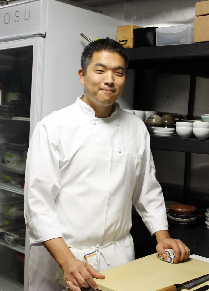 Chef Sung Anh in his kitchen at Mosu.