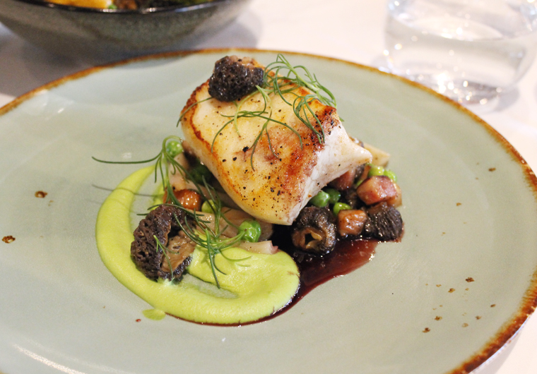 Or for lighter eaters, a perfect halibut.