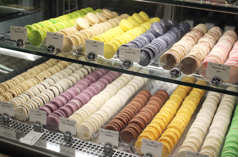 Flavors upon flavors of macarons.