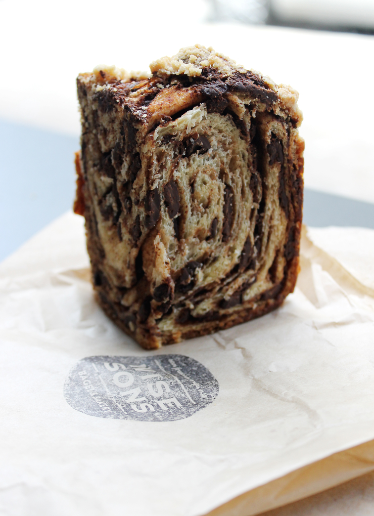 Wise Sons chocolate babka to make you weak in the knees.