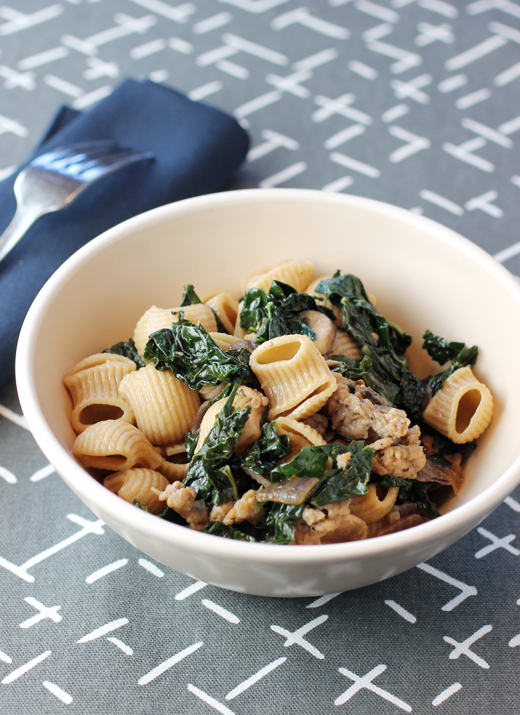 A simple pasta dish becomes extra special with Community Grains organic whole grain pastas.