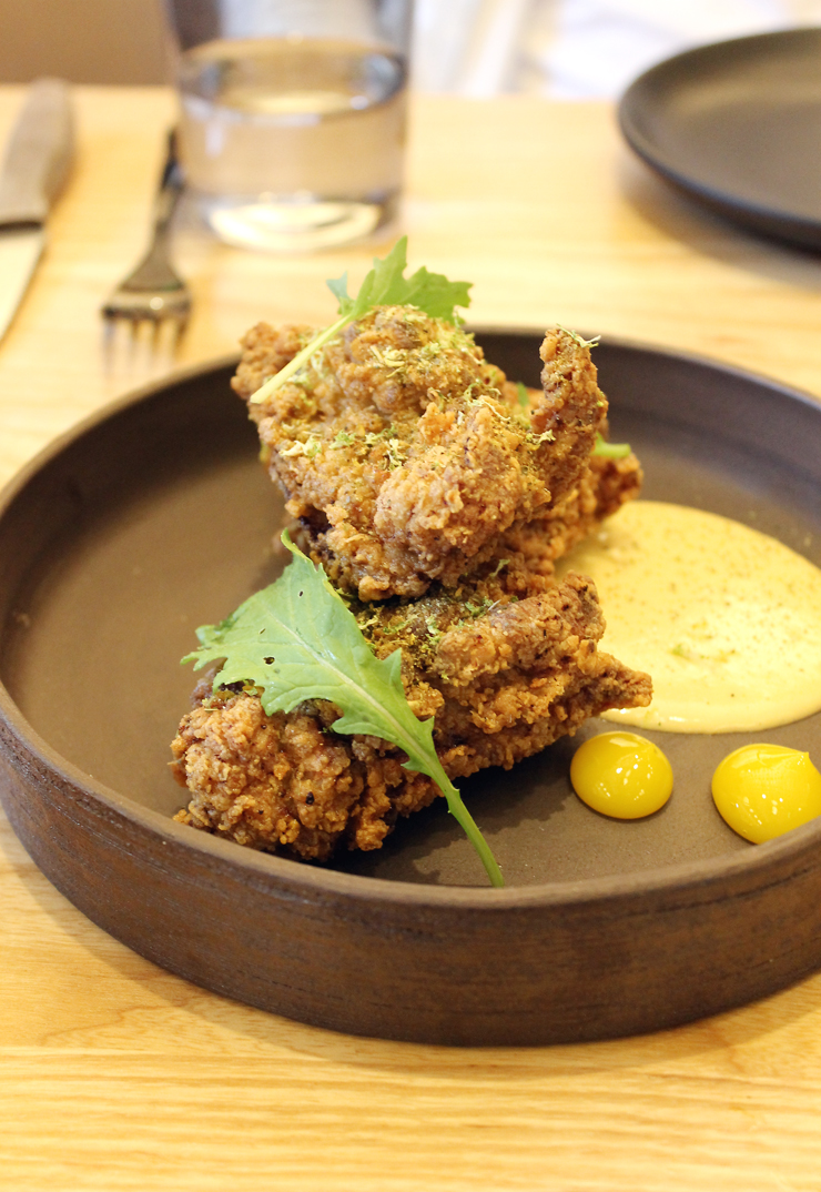 Irresistible curry-dusted fried chicken at Bird Dog.