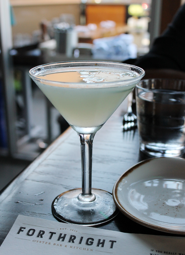 A specialty cocktail.