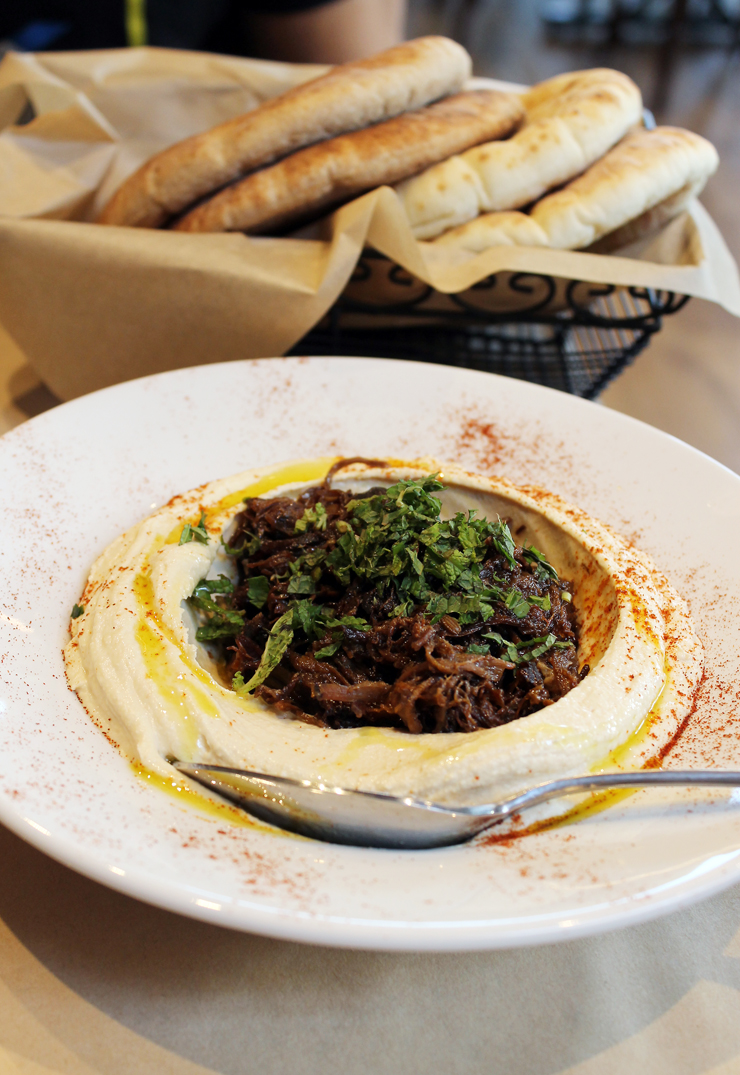 Hummus with lamb at the new Oren's in Cupertino. Swoon.