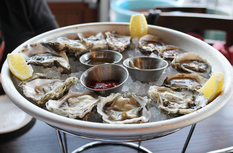 A sampling of some of the oysters offered nightly.