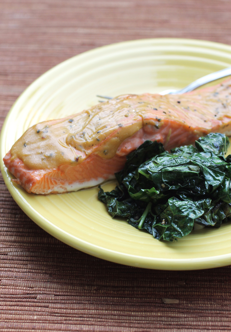 California King salmon delivered right to my door from Siren Fish Company that I cooked with mustard and brown sugar.
