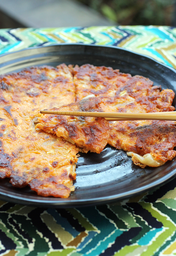 A spicy, savory Korean pancake that cooks up in no time.