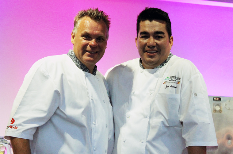 Chef Francois Payard with Chef Jose Garces.