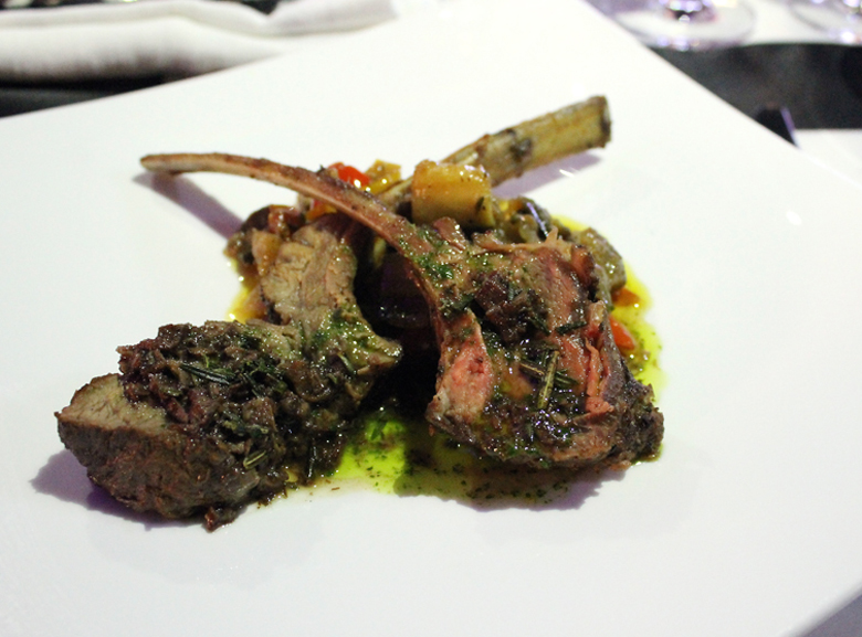 Grilled lamb chops by Chef Jonathan Waxman.