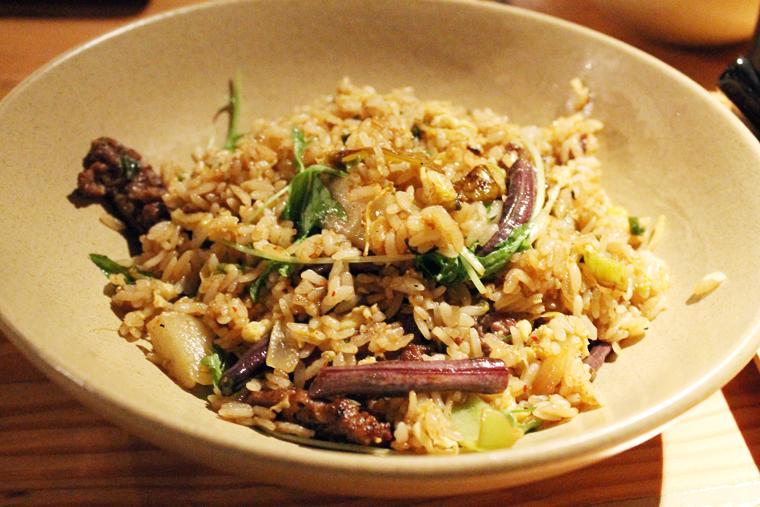 Blood sausage fried rice.