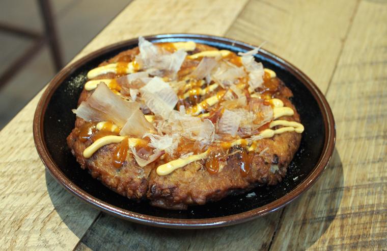 A savory Japanese pancake.