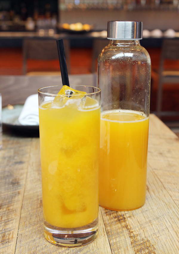 Passion fruit spritzer hits the spot on a warm day.