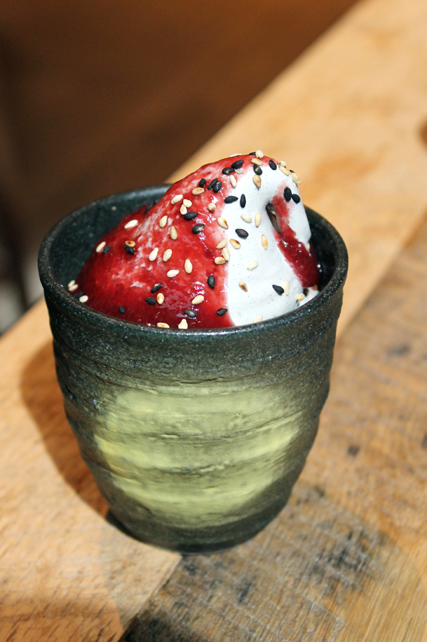 Dazzling black sesame soft-serve.
