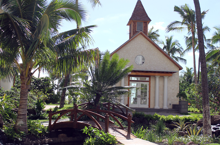 A wedding chapel on the grounds.