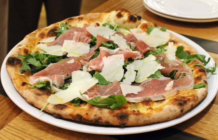Prosciutto aplenty on this favorite pizza.