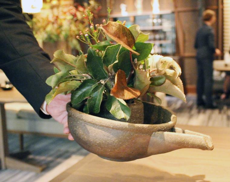 A unique sake vessel.
