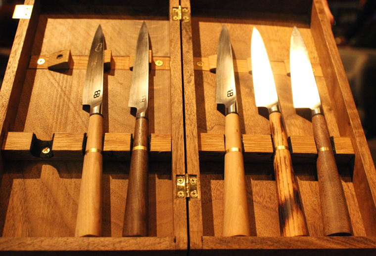 A selection of knives.