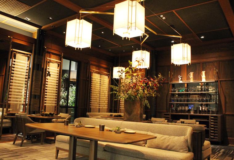The tatami-like dining room.