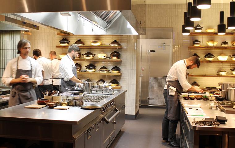 The serene kitchen.