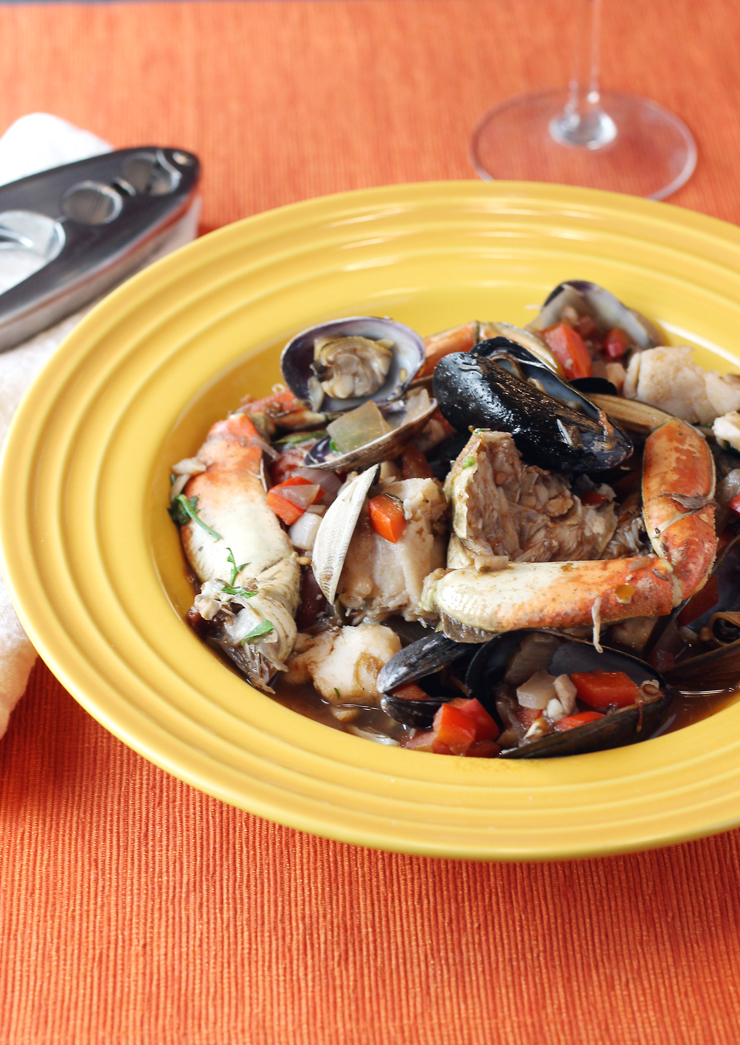 Cioppino is served -- just like that.