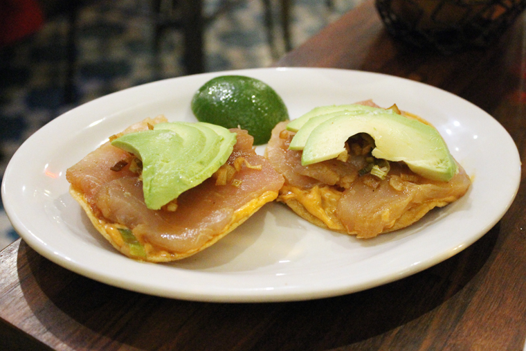 Albacore tostadas. Squirt on the lime and take a bite.