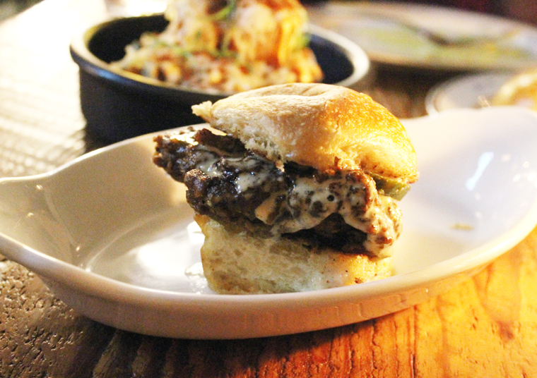 The chicken slider with tangy Southern-style white sauce.