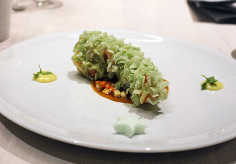 Behold, the wasabi lobster.