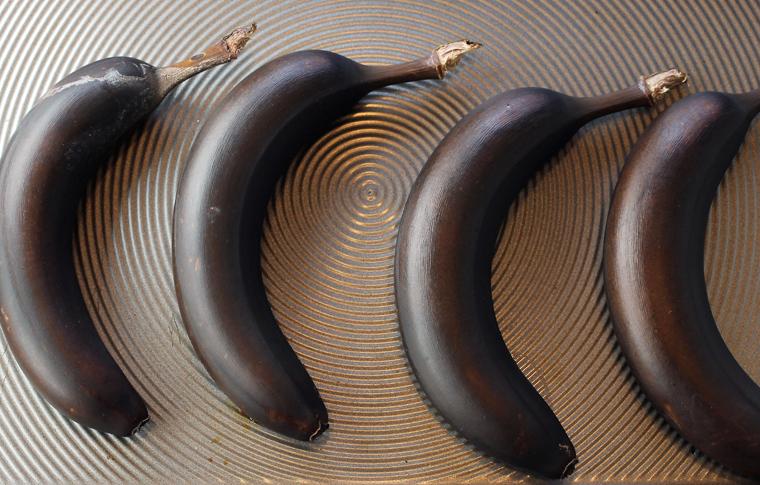 Roasting the bananas intensifies their flavor.