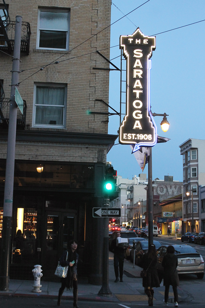 A taste of old and new at The Saratoga in San Francisco.