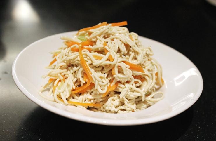 Tender, refreshing soy noodle salad.