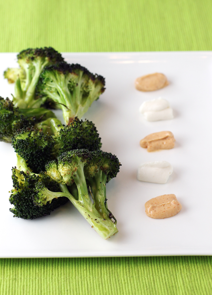 Plain broccoli becomes practically gourmet with dollops of Maio.