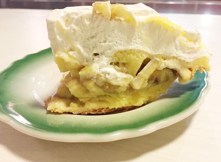 The Apple Pan puts the bananas in banana cream pie.