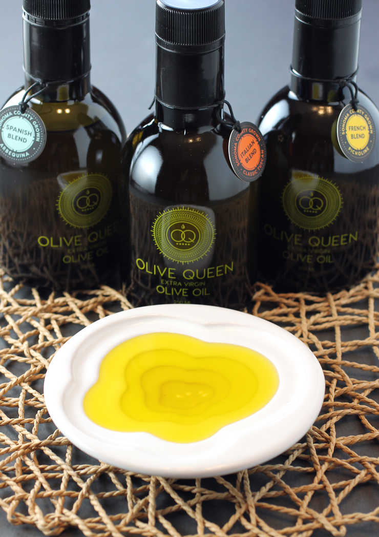You might just feel like a queen when you taste the Olive Queen's extra virgin olive oils.