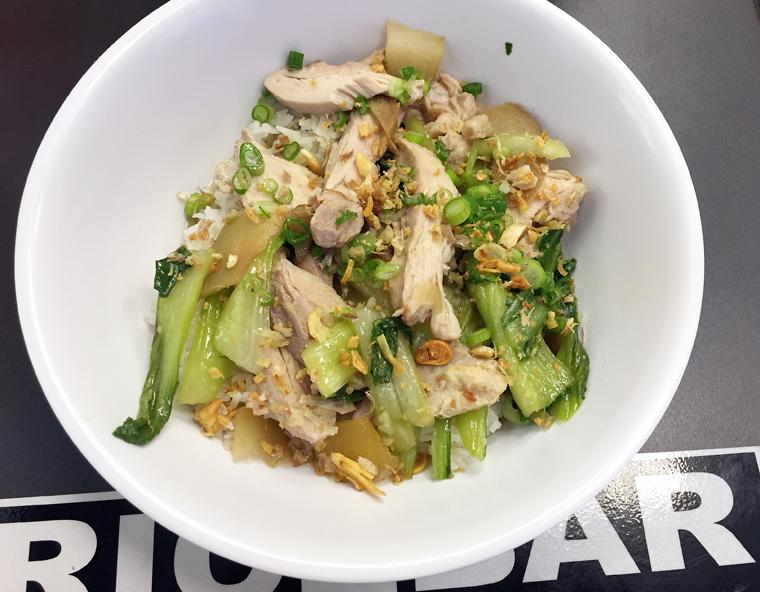 The chicken Tinola bowl.