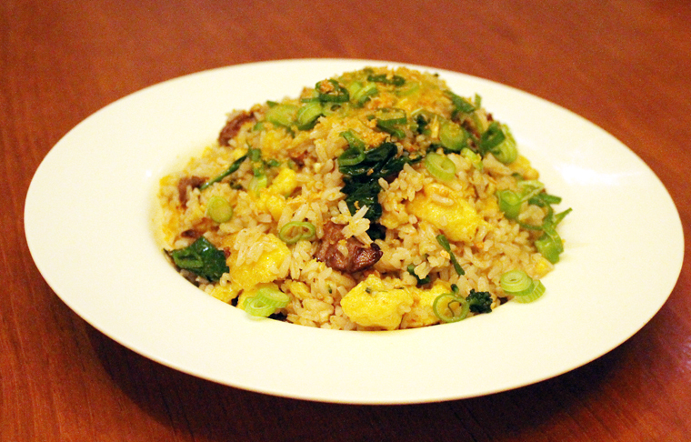 Not your typical fried rice; this one is plentiful with Wagyu beef.