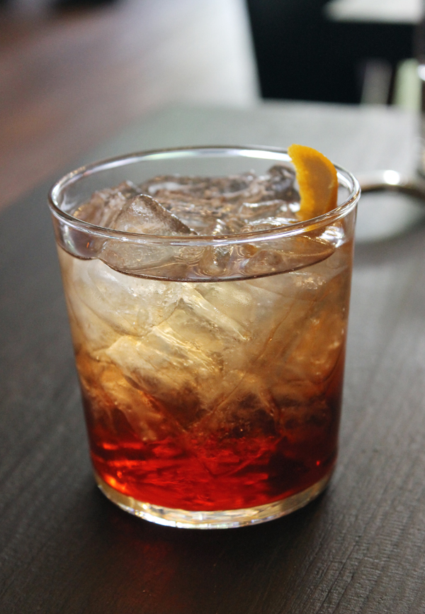 Layers of flavors and colors in this riff on a traditional Negroni.