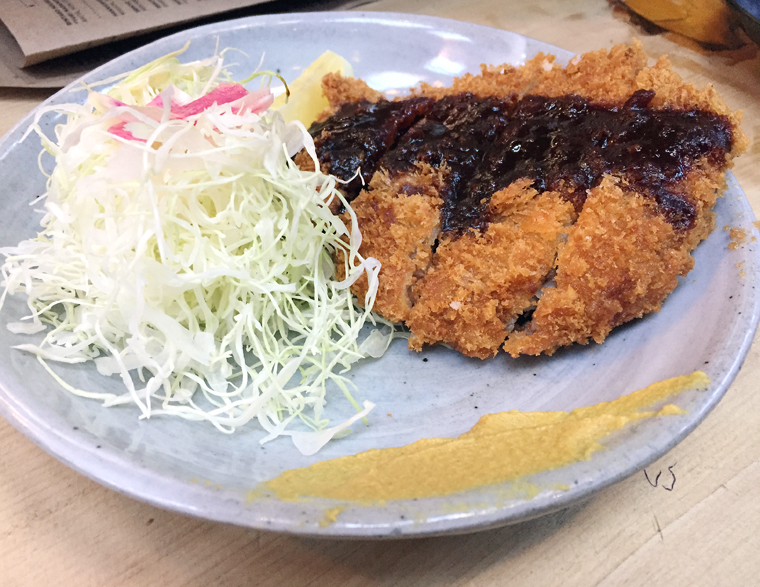 Not your typical tonkatsu.