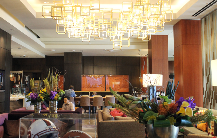 Take a load off in the newly revamped lobby lounge.