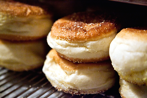 The famous English muffins. (Photo courtesy of the Model Bakery)
