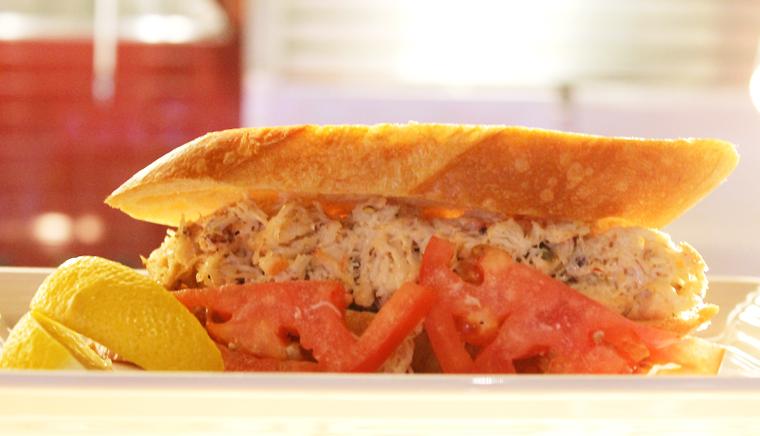 Dungeness crab salad sandwich.