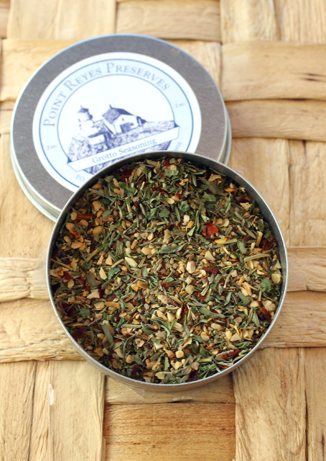 Point Reyes Preserves Grotto Seasoning. (Photo by Carolyn Jung)