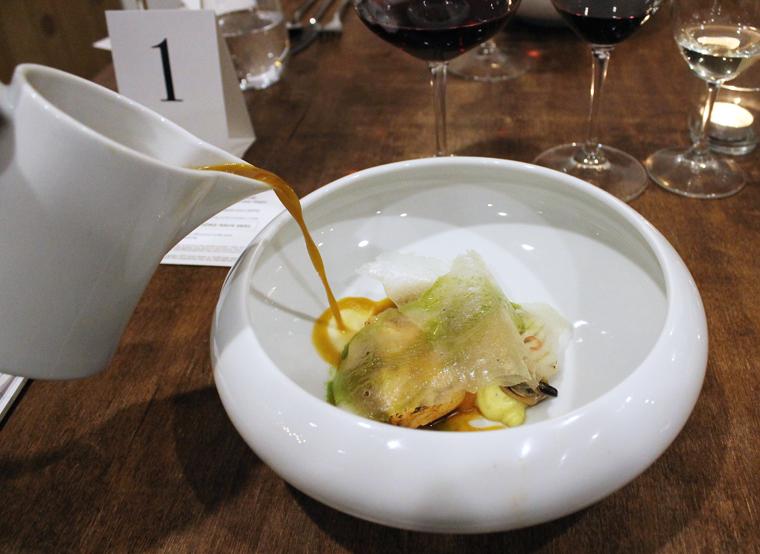 Pedro Lemos' fanciful fish stew.