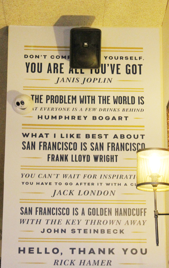 The restaurant is an ode to San Francisco's irreverent history.