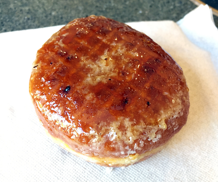 Presenting the Creme Brulee donut.