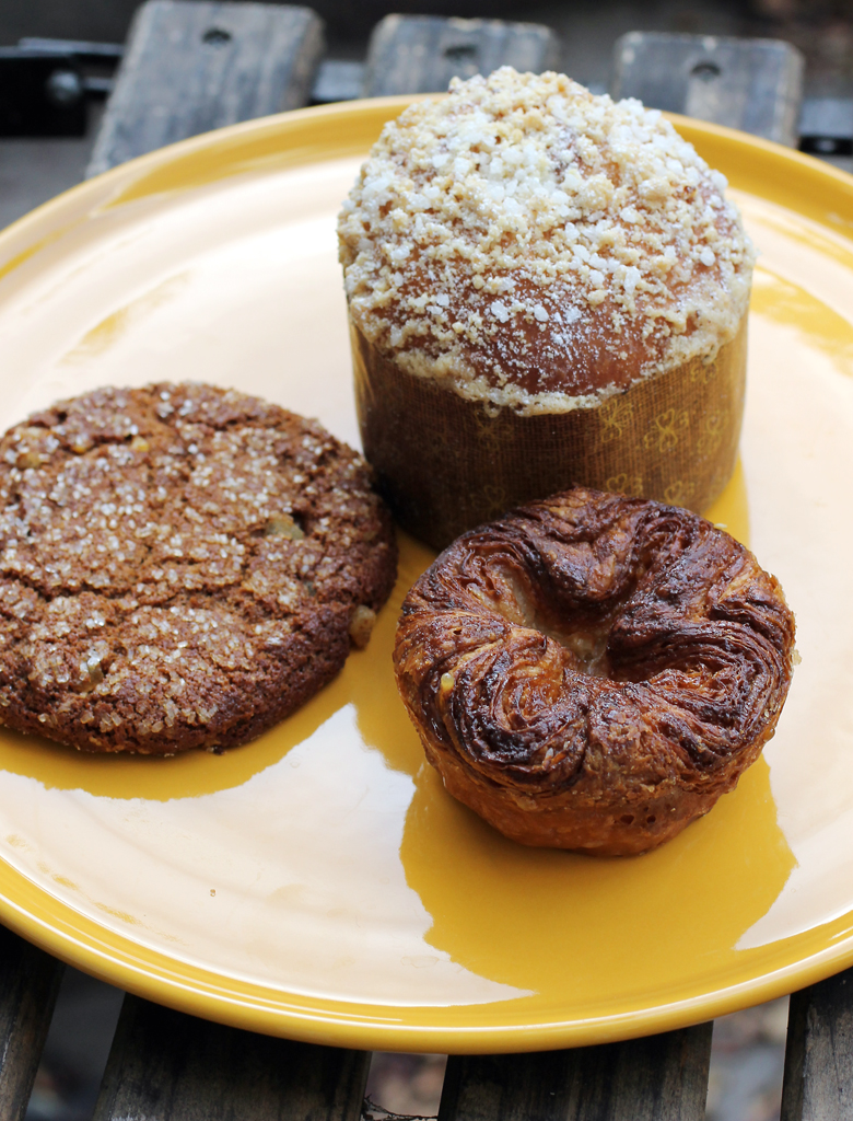Ginger cookie, Nutella brioche, and kouign-amann from Jane bakery.