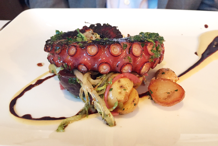 An impressive octopus dish.
