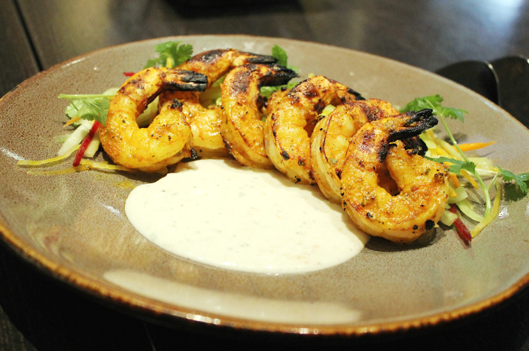 Tandoori shrimp with yogurt.
