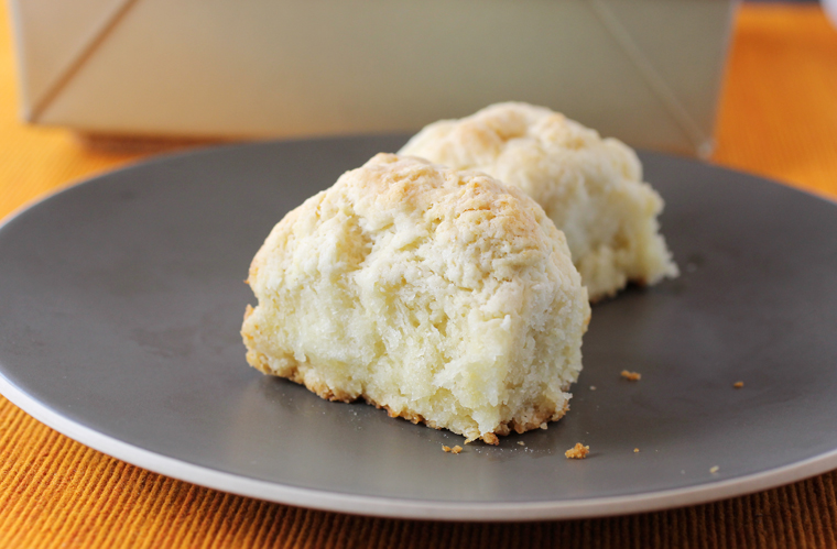 The messy dough creates perfect biscuits.