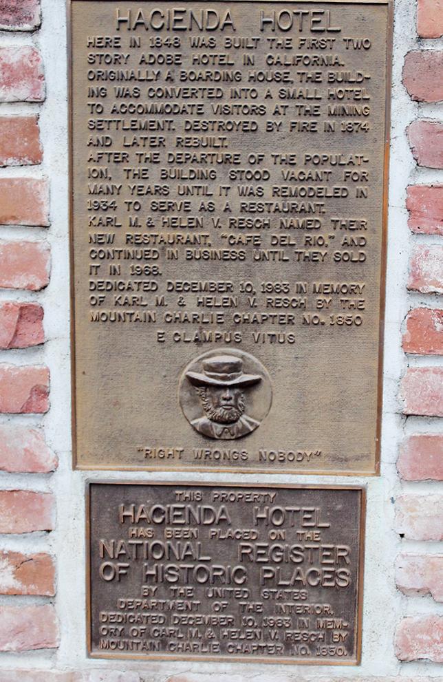 Historic marker.